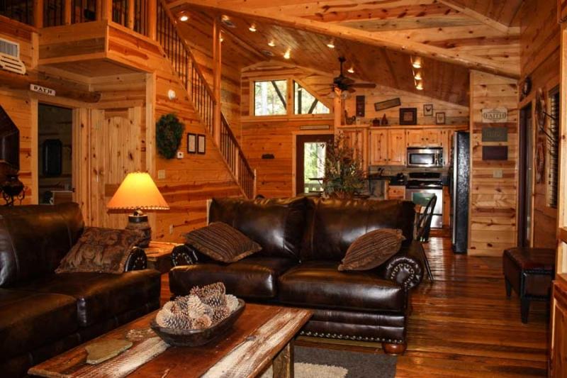 Beavers Bend Lodging Living Room1